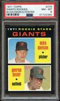 1971 TOPPS #276 MIKE DAVISON/GEORGE FOSTER PSA 8 RC ROOKIE GIANTS  *ADT2295