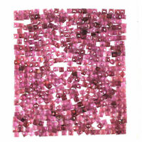 500 Pcs Natural Garnet 3mm Square Rose Cut Sparkling Gemstones Wholesale Lot