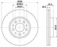 MINTEX MDC825 BRAKE DISC Front