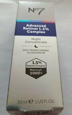 NO7 ADVANCED RETINOL 1.5% COMPLEX NIGHT CONCENTRATE 30ML BRAND NEW BOXED
