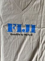 Marky G Men Fine Jersey Short Sleeve v-neck T-shirt Gray FIJI NEW XL