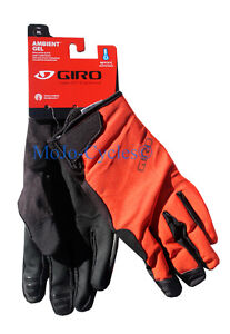 """Giro Ambient Gel Glove  Fall Winter Spring Multiple sizes Black """"Glowing Red""""New"""