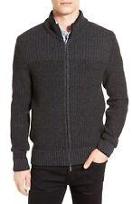 Hugo Boss Mens Bertolino Rib Knit Wool & Cashmere Sweater Size XL