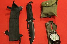 SURVIVAL GEAR  COMPASS KNIFE FISHING HUNTING HIKING CAMPING MILITARY STYLE EDC