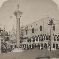 Venezia Palais Ducale Italia Stereo Vintage Analogica Ca 1920