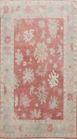 Geometric Floral Oushak Turkish Oriental Area Rug Hand-knotted Vegetable Dye 6x9