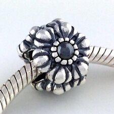 Authentic Pandora Birthday Blooms March Hematite 925 Silver Bead 790580HEM New