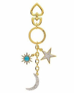 Juicy Couture Key Ring fob Purse Charm Sun Moon Star NWD