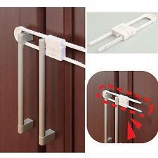 4pcs Child Locks Baby Kid Toddler U Shape Safety Cabinet Door Drawer Lock White