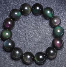8m moonstone Bracelet Reiki men Sutra Gemstone mala Stretchy Bless Tibet silver
