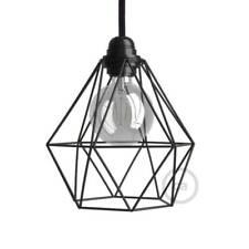 Black Naked Light Bulb Diamond Cage