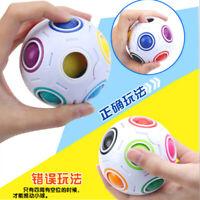 Fidget Ball Magic Rainbow Puzzle Rubiks Figet Cube Globe 3D Colour Jigsaw Toys