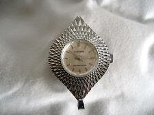 Vintage Diamond Cut Lucerne Pendant Watch Diamond Beveled Crystal Runs