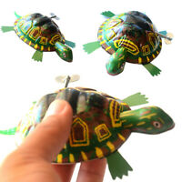 Funny Iron Moving Tortoise Wind up Clockwork Toy Kids Hobby Collectible Toy Char