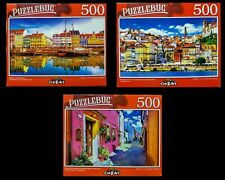 Lot of 3 ~ NEW Jigsaw Puzzles by Puzzlebug Venice Italy Portugal Nyhavn NIB