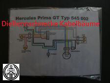 Hercules Prima GT/GX Kabelbaum Kabelsatz Nachbau incl. farbigem Schaltplan