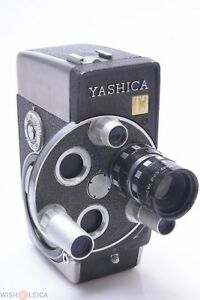 ✅ YASHICA T3 8MM D-MOUNT CINE, MOVIE FILM CAMERA W/ 13MM 1.4 YASHINON V LENS