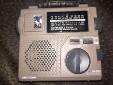 Grundig FR-200 AM/FM SW1 2 Radio World Band Receiver Portable Radio