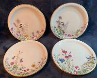 "K&A Franconia-Krautheim Selb Bavaria ""Meadow Flowers"" Salad Plates, Lot of 4"
