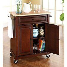 Kf30021EbkcrosleyCrosley Wood Top Portable Kitchen Cart - MahoganyNew