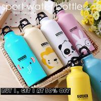 500ml Kids Water Bottle With Straw BPA Free Children Sport Water Drinking Kettle