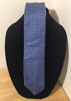 Brioni Mens Blue Squared Neck Tie Silk Handmade In Italy