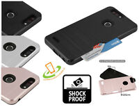ZTE Phone Hybrid Shockproof Credit Card Holder Wallet Case Hard TPU Cover + Kit