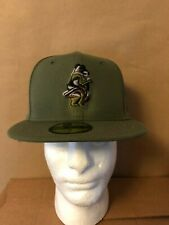 Chicago White Cubs New Era MLB Camo Trim Collection 59Fifty Fitted Olive Camo