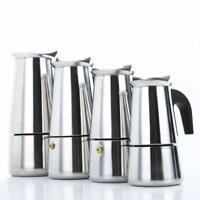 Stainless Steel Filter Stove Top Mocha Pot Moka Italian Espresso Coffee Maker