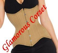 "Cotton Corset Waist Training Underbust Lone Line Tight lacing Size 18-40"""
