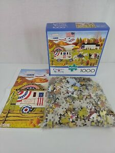Buffalo Charles Wysocki So Proudly We Hail 1000 Piece Jigsaw Puzzle W/Poster USA