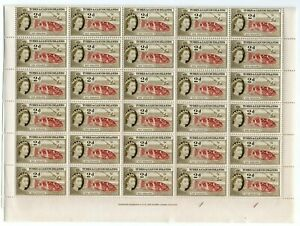 TURKS and CAICOS QEII 2d *** WHOLE SHEET of 60 STAMPS ***