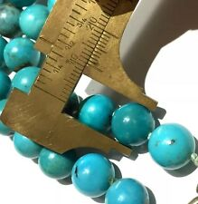 Rare Vintage 70.80g! Big solid Turquoise beads necklace