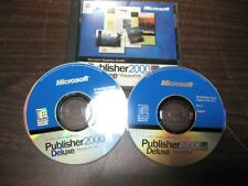 MICROSOFT PUBLISHER 2000 DELUXE 2 CD SET PRODUCT KEY PHOTO EDITING (S3)