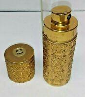 VINTAGE CARON NEW YORK NUIT DE NOEL EAU DE TOILETTE GOLD SPRAY BOTTLE - EMPTY