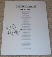 RICKY WILSON SIGNED KAISER CHIEFS OH MY GOD LYRIC SHEET w/EXACT VIDEO PROOF