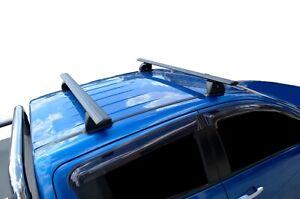 Alloy Roof Rack Cross Bar for Holden Colorado 12-19 135cm Black Lockable