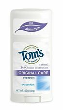 6 Pk Tom's of Maine Natural Original Care Deodorant Stick Unscented 2.25 Oz Each