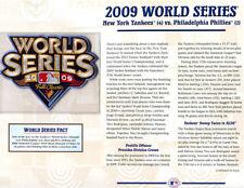 2009 WORLD SERIES PATCH Willabee & Ward NEW YORK YANKEES / PHILADELPHIA PHILLIES