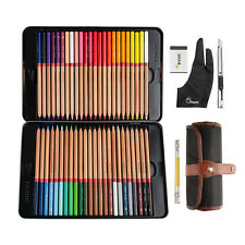 Marco Renoir Fine Art Drawing 48 Color Colored Oil Base Sketch Pencils Set+ Gift