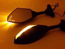 LED Black Mirrors For 2000 2001 2002 2003 2004 2005 2006 2007 2008 YAMAHA YZF R6
