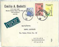 FLOWERS - POSTAL HISTORY : TURKEY - AIRMAIL COVER to ITALY 1955