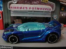 2013 Hot Wheels QUICK N' SIK ~New Met BLUE~Loose~HW City *NightBurnerz