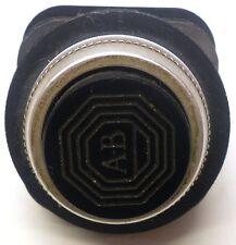 ALLEN BRADLEY PUSHBUTTON CAT NO: 800T-B2D1, PILOT (HVY) DUTY 600V. AC MAX BLACK