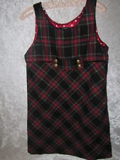 The Children's Place Christmas Holiday Scotch Plaid Lined Jumper Dress, 6x/7