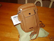 Mens Tan Leather Cow Hide Shoulder/Wrist Bag From Lorenz New .