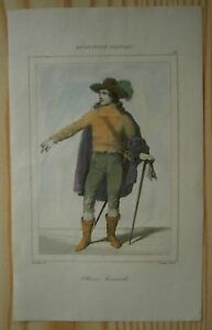 1842 portrait print OLIVER CROMWELL,LORD PROTECTOR OF ENGLAND,SCOTLAND & IRELAND
