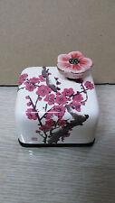 Ume Flower Korea Orgel Music Box Paperweight Ceramic Hand Craft, Figure
