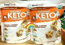 2 Packs Innofoods Organic Coconut Keto Clusters 16 oz Each Pack