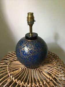 Original Kashmiri Lacquered Paper-Mache Table Lamp 11 1/4 inches.